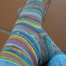 Vanilla Socks - Toe Up Supertwist Sock / Man Sock Designer: Carle Dehning