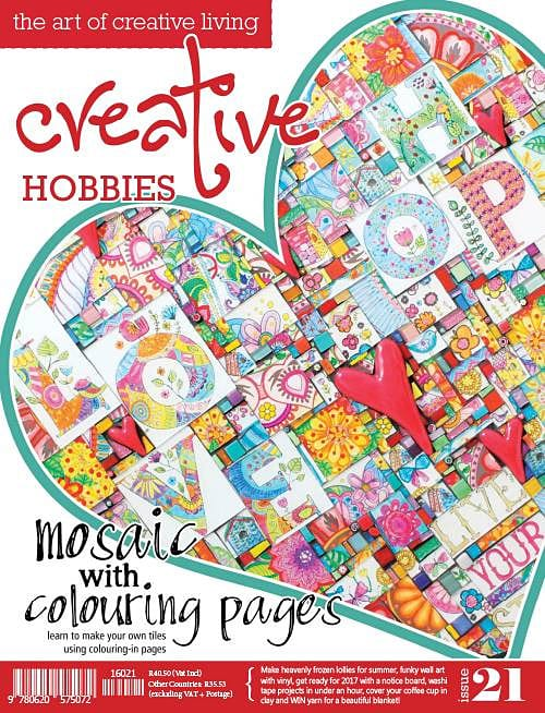 Creative Hobbies Issue 21 Featured Patterns: Bardot Jersey Floral Blanket